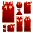 Set red tag - Stock Vector
