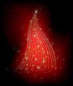 Christmas fir decorative — Stock Vector