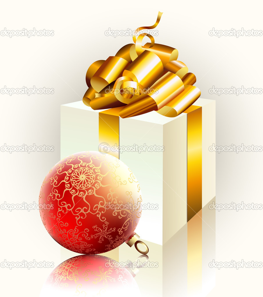 Christmas gift, this illustration may be useful as designer work — Image vectorielle #3684001