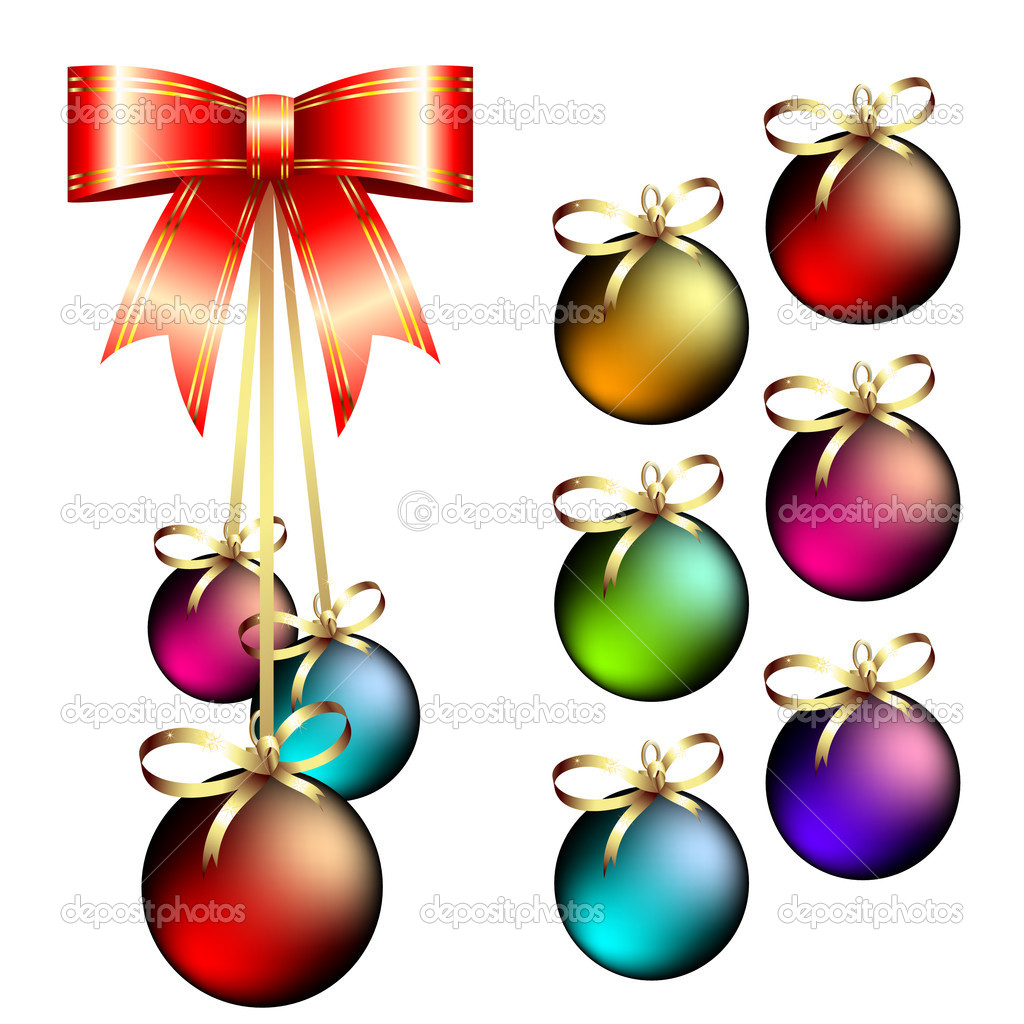 Christmas balls, this illustration may be useful as designer work — Stock Vector #3684010