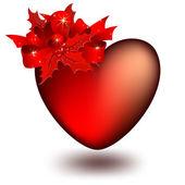 Coração decorativa — Vetor de Stock