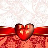 Kalp dekoratif — Stok Vektör