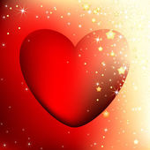 Corazón decorativo — Vector de stock