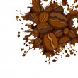 Abstract coffee background - Stock Vector
