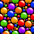 Seamless  with colored balls - Stock Photo