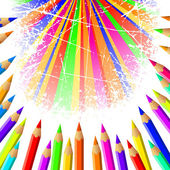 Pencil background — 图库照片