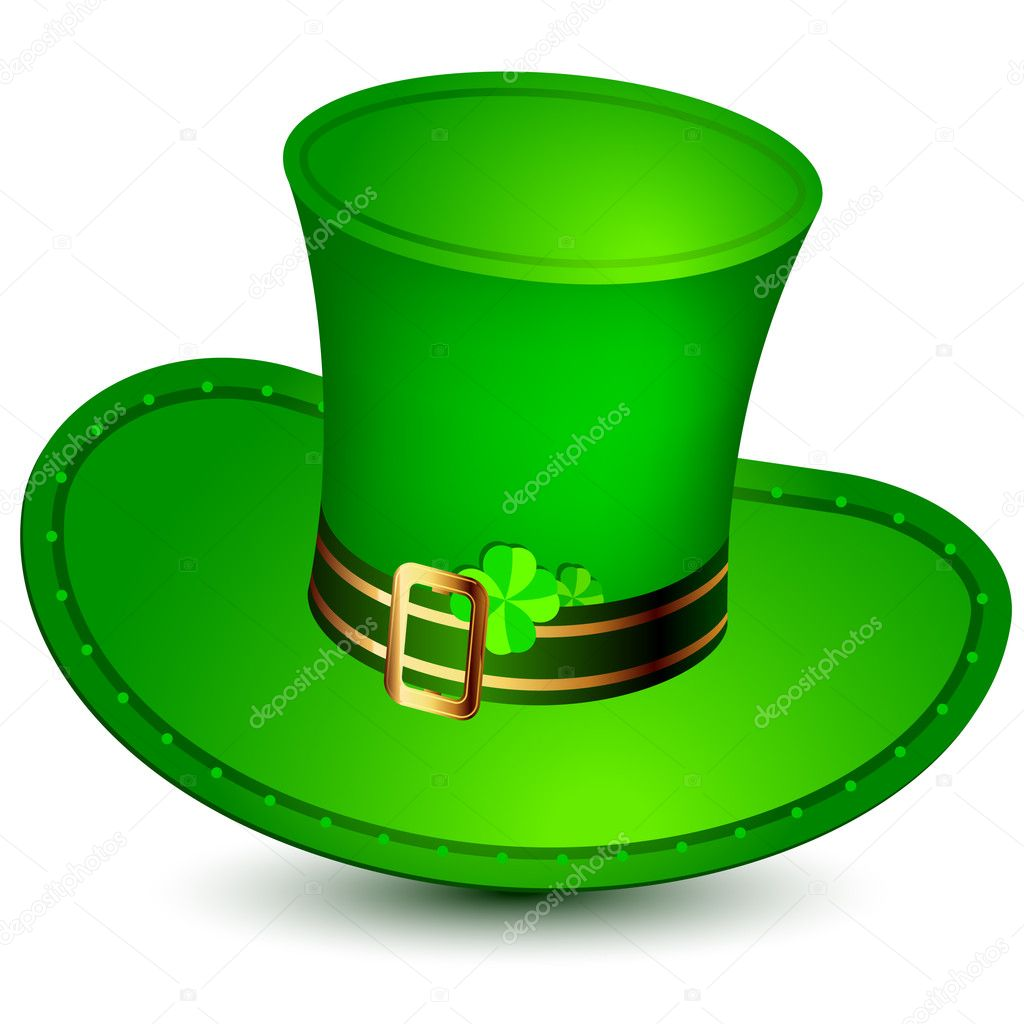 Patrick's hat green,  this  illustration may be useful  as designer work — Stock Vector #3731672