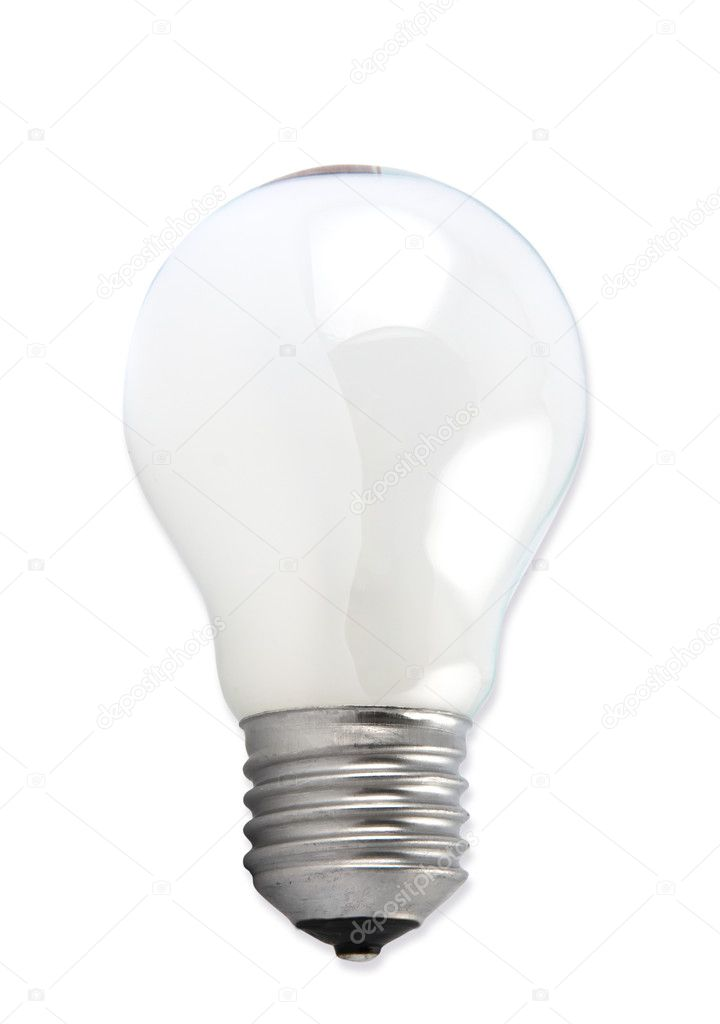 Lightbulb Isolated On White conceptual of eco-friendly efficiency and also ideas, intelligence and solutions. — Stock Photo #3446089
