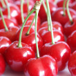 Stock Photo: Plenty of red tasty cherries