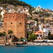 Red Tower in Alanya - Stock Photo