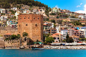 Red Tower in Alanya — Foto Stock