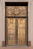 A bronze door at the Vilnius University — Stock Photo