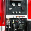 Stock Photo: Fire truck control panel