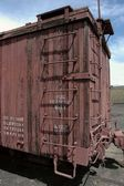 Antigue wooden boxcar — Stock Photo