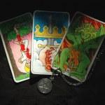 タロット カードと水晶玉 — ストック写真