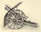 Gun engraving — Stock Photo