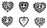 Heart pictograms — Stock Photo