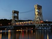 Portage Lake Lift Bridge - Houghton, MI — Stock Photo