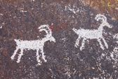 Grapevine kaňonu petroglyfy — Stock fotografie