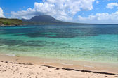 Tranquil beach on Saint Kitts — Stock Photo