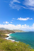 Majestic coastline of Saint Kitts — Stock Photo