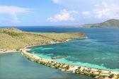 Beautiful beach on Saint Kitts — Stock Photo