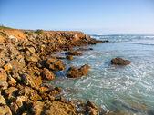 Skaliste wybrzeże w victoria, australia — Zdjęcie stockowe