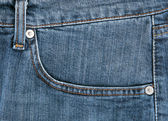 Blue jeans closeup — Stock Photo