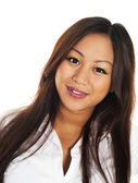 Beautiful smiling asian girl — Stock Photo