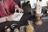 Calígrafo medieval — Foto de Stock