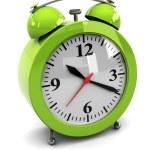 Green alarm clock — Stock Photo