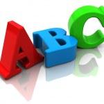 Abc sign — Stock Photo