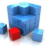 construção de blocos — Foto Stock