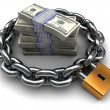 Royalty-Free Stock Photo: Protected money