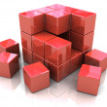 construção de cubo — Foto Stock