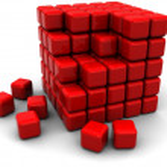 estrutura do cubo abstrato — Foto Stock