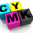 Stock Photo: cmyk cubes