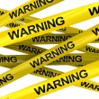 Warning ribbons — Stock Photo