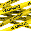 Warning ribbons — Stock Photo #3504679