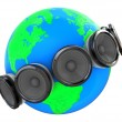 Stock Photo: Sound around earth