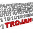 Stock Photo: Trojan in binary code