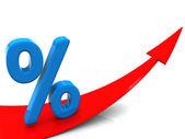 Rośnie procent — Zdjęcie stockowe