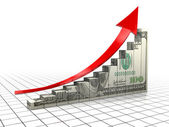Dollar charts — Stock Photo