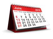 June calendar — Stock Photo