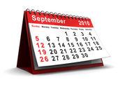 September 2010 calendar — Stock Photo