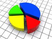 Pie diagram — Stock Photo