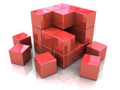 Cube construction — Stock Photo