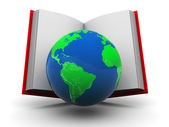 World in book — Stock Photo