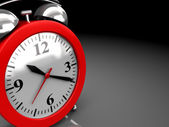 Alarm clock background — Stock Photo