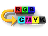 Rgb to cmyk conversion — Stock Photo
